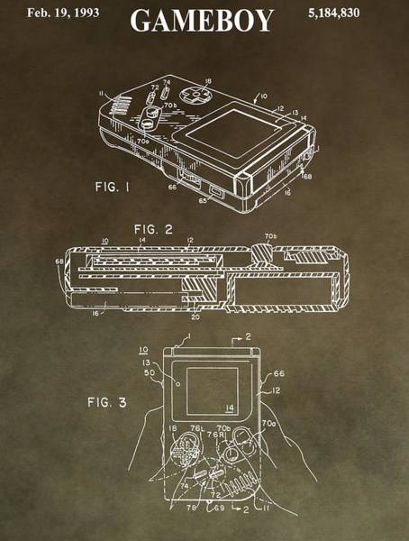 Technology Mixed Media - Vintage Nintendo Patent by Dan Sproul