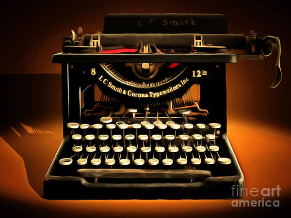 Photograph - Vintage Nostalgic Typewriter 20150302 by Wingsdomain Art and Photography