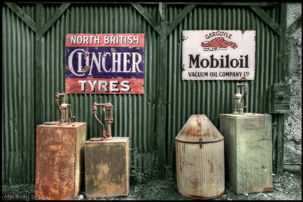 Wall Art - Photograph - Vintage Oil Lubester Tanks by Mal Bray