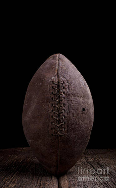 Photograph - Vintage Old Leather Football by Edward Fielding