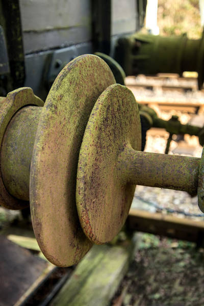 Oxidised Photograph - Vintage Old Railway Buffer Joint Connection Coupling by Matthew Gibson