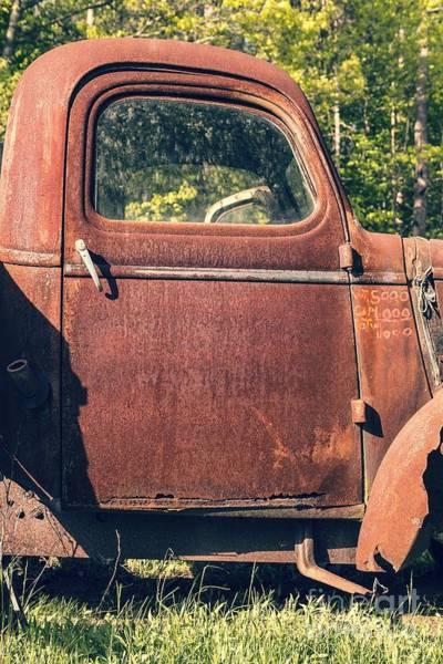 Wall Art - Photograph - Vintage Old Rusty Truck by Edward Fielding