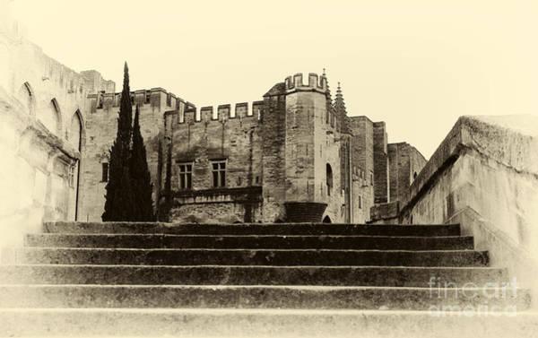 Photograph - Vintage Papal Palace by John Rizzuto