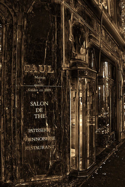 Photograph - Vintage Paris Bakery by Andrew Fare