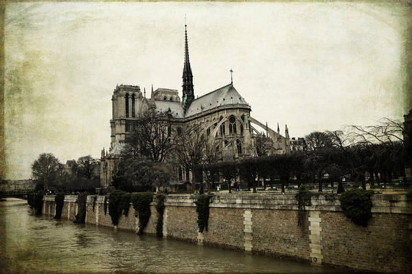 Photograph - Vintage Paris Notre Dame by Evie Carrier