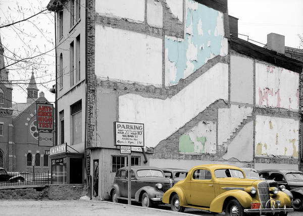 Photograph - Vintage Parking Lot by Andrew Fare