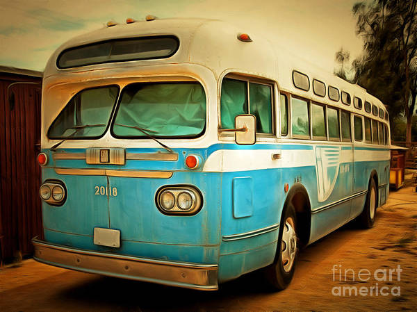 Photograph - Vintage Passenger Bus 5d28394brun by Wingsdomain Art and Photography