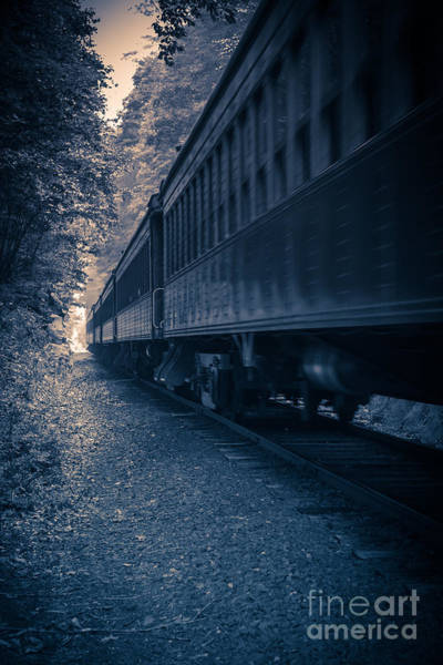Photograph - Vintage Passenger Train Cars by Edward Fielding