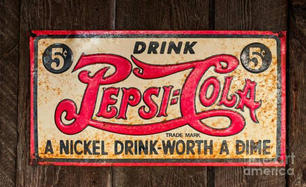 Photograph - Vintage Pepsi Cola Ad by Les Palenik
