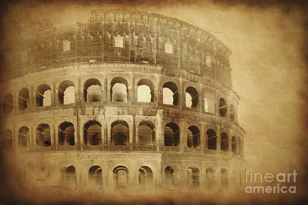 Wall Art - Photograph - Vintage Photo Of Coliseum In Rome by Evgeny Kuklev
