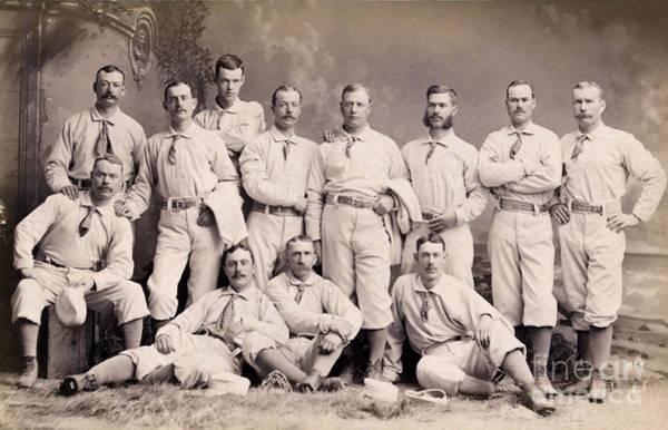 Met Photograph - New York Metropolitans Baseball Team Of 1882 by Jon Neidert