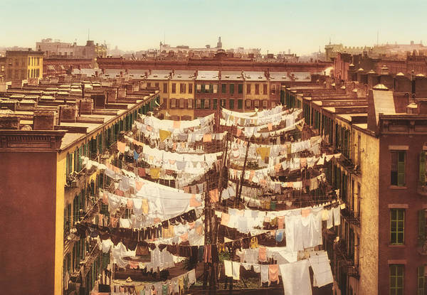 Tenement Photograph - Vintage Photo Of Washing Day In New York City 1900 by Mountain Dreams