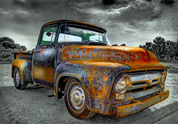 Ford Van Photograph - Vintage  Pickup Truck by Mal Bray