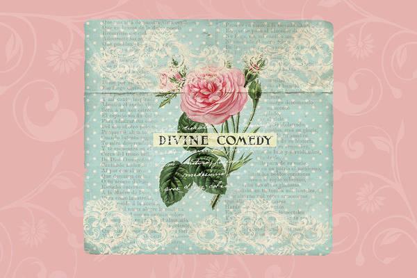 Digital Art - Vintage Pink Roses by Peggy Collins
