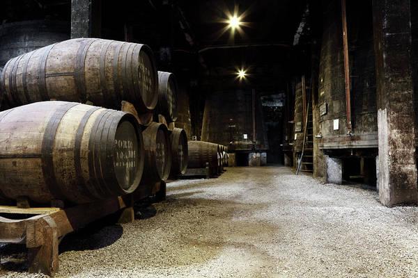 Ancient Photograph - Vintage Porto Wine Cellar by Vuk8691