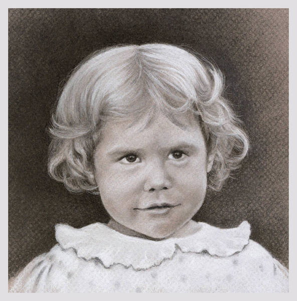 Wall Art - Drawing - Vintage Portrait by Natasha Denger