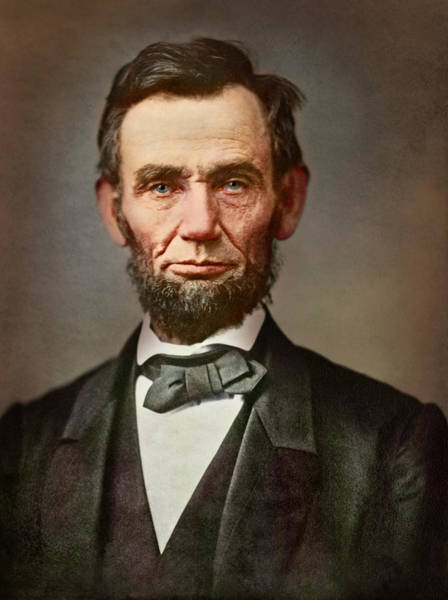 Wall Art - Photograph - Vintage Portrait Of President Abraham by Stocktrek Images