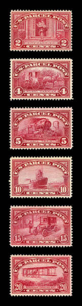 Photograph - Vintage Postage Stamps 1912 by Andrew Fare