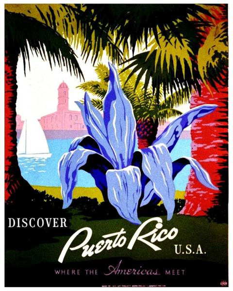 Puerto Rican Photograph - Vintage Poster - Puerto Rico by Benjamin Yeager
