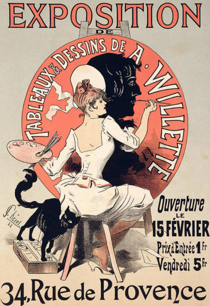 French Artist Drawing - Vintage Poster Advertising An Art Exhibition by Jules Cheret