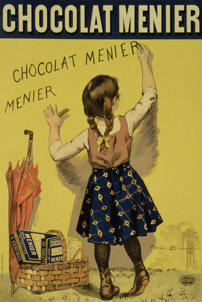 Shadows Drawing - Vintage Poster Advertising Chocolate by Firmin Bouisset