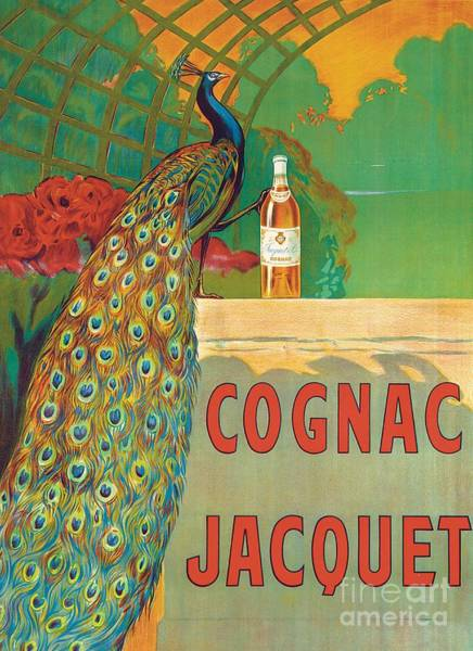 Bar Wall Art - Painting - Vintage Poster Advertising Cognac by Camille Bouchet