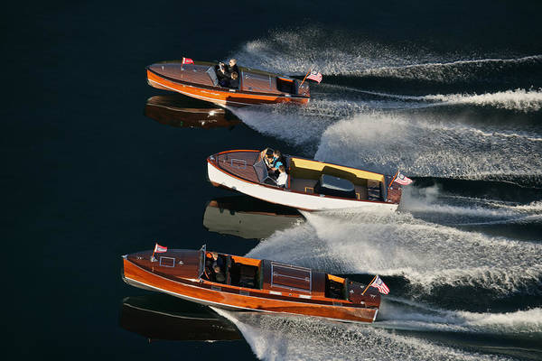 Outboard Engine Photograph - Vintage Racers by Steven Lapkin