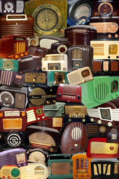Photograph - Vintage Radios by Andrew Fare