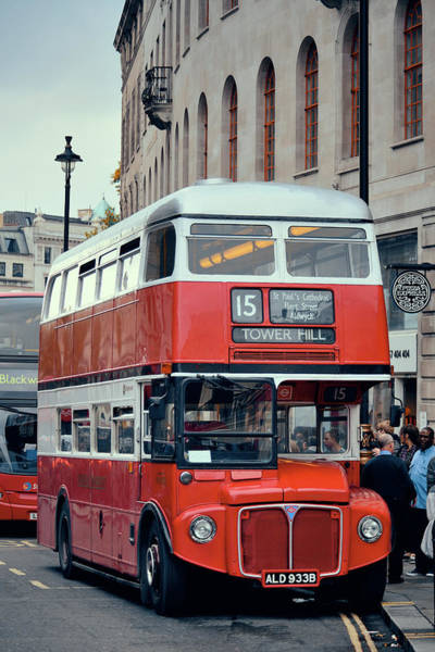 Wall Art - Photograph - Vintage Red Bus by Songquan Deng