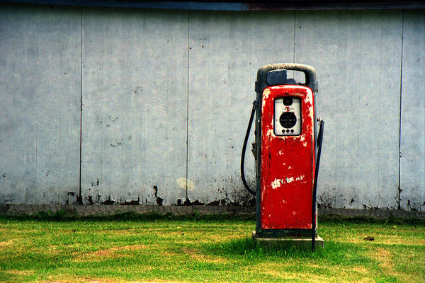 Photograph - Vintage Red Gas Pump by Randall Nyhof