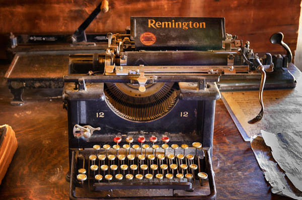 Remington Photograph - Vintage Remington Typewriter  by Saija  Lehtonen