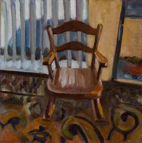 Rocking Chairs Painting - Vintage Rocker by Pattie Wall