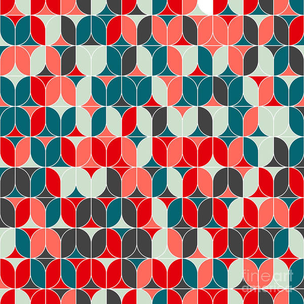 Wall Art - Digital Art - Vintage Seamless Geometrical Colorful by Svetlana Lukoyanova