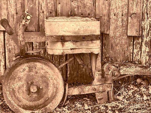 Photograph - Vintage Seeder - Sepia Photograph by Lesa Fine