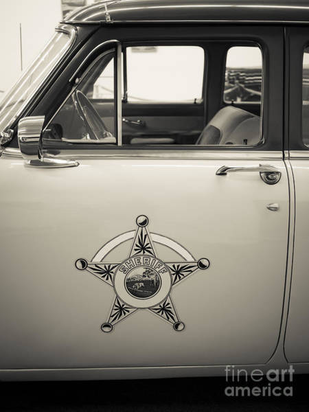 Photograph - Vintage Sheriffs Police Car by Edward Fielding