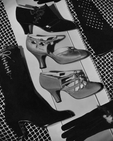Boots Photograph - Vintage Shoes by Horst P. Horst