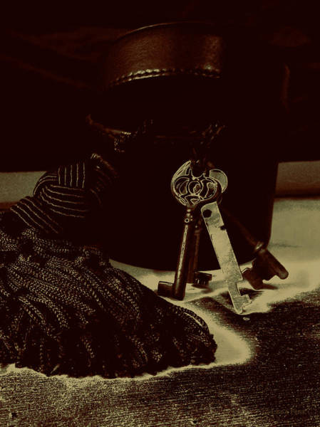 Photograph - Vintage Skeleton Keys _tassle Nbr 3 by Lesa Fine
