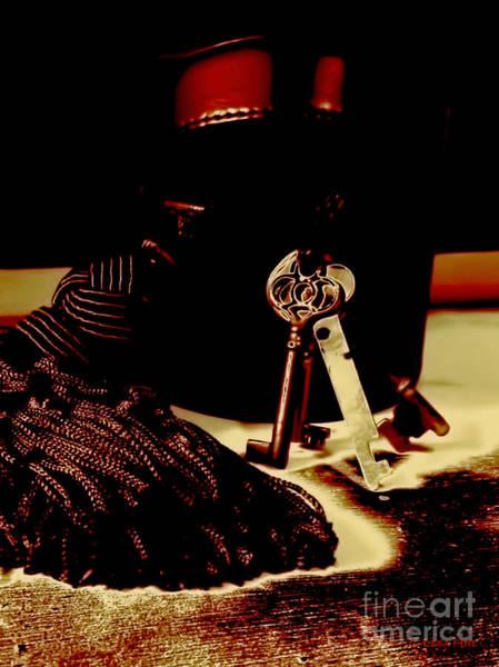 Photograph - Vintage Skeleton Keys_red Leather Box by Lesa Fine