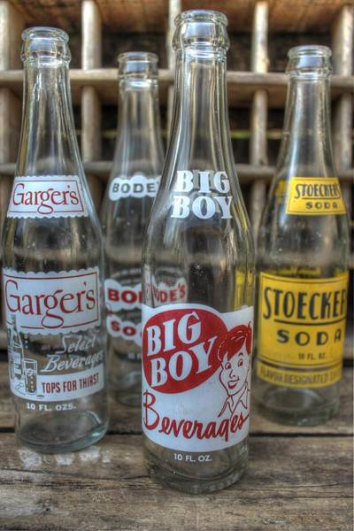 Wall Art - Photograph - Vintage Soda Bottles by Jane Linders