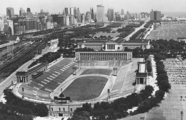 Wall Art - Photograph - Vintage Soldier Field - Chicago Bears Stadium by Bob Horsch