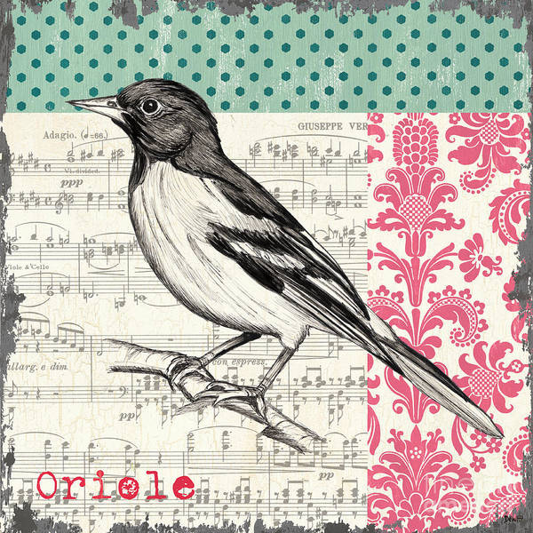 Spring Wall Art - Painting - Vintage Songbird 2 by Debbie DeWitt