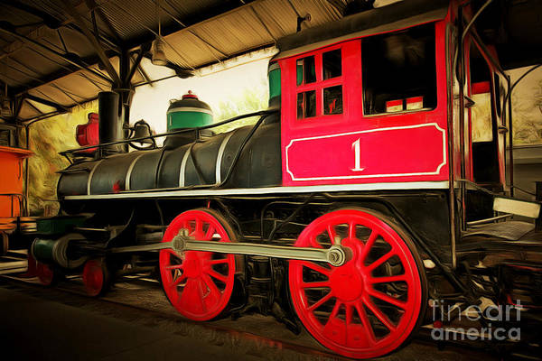 Photograph - Vintage Steam Locomotive 5d29231brun by Wingsdomain Art and Photography