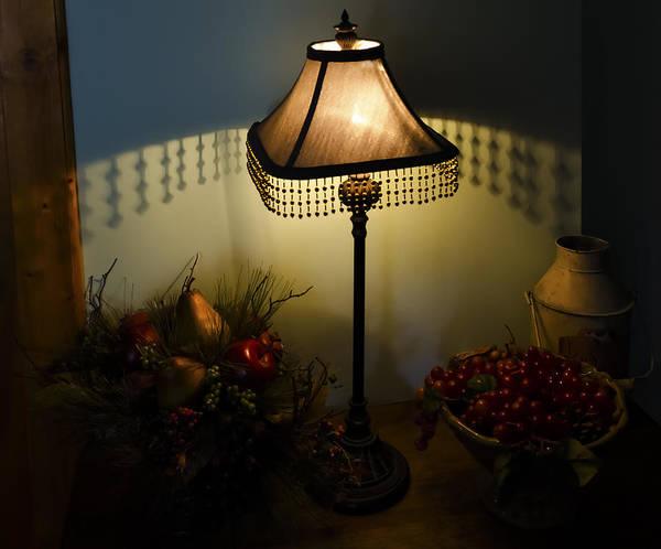 Vintage Still Life And Lamp Art Print