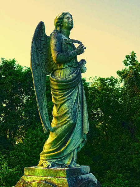 Photograph - Vintage Stone Angel  by Denise Beverly
