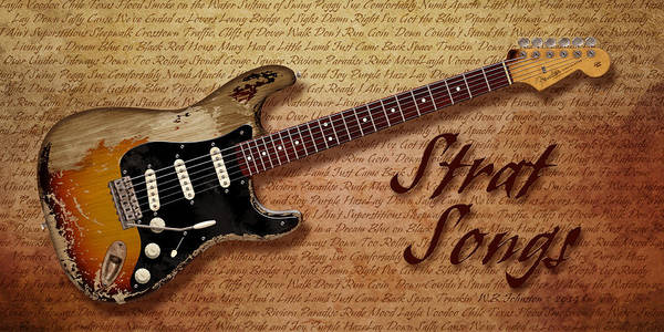 Strat Photograph - Vintage Strat Songs by WB Johnston