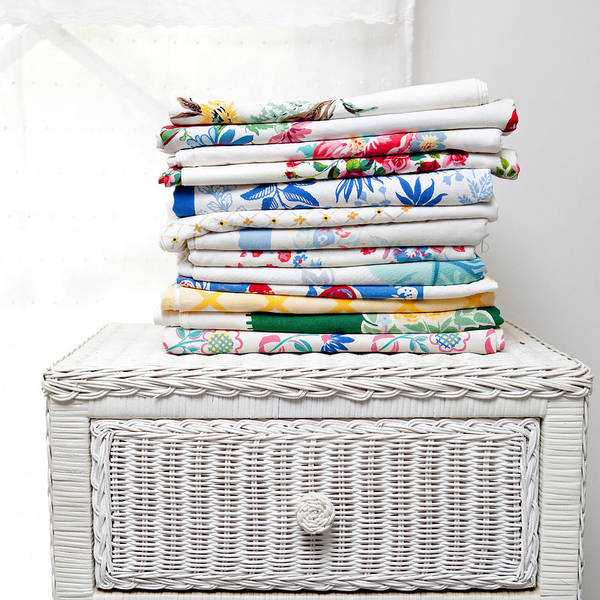 Chest Of Drawers Photograph - Vintage Tablecloth Collection by Art Block Collections