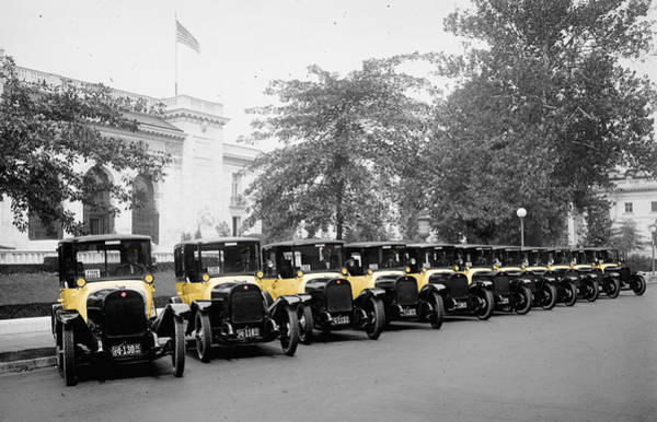 Photograph - Vintage Taxis 3 by Andrew Fare
