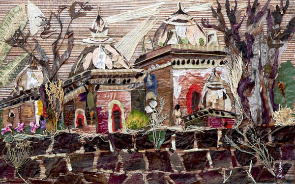 Temple Mixed Media - Vintage -temples  by Basant Soni