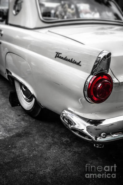 Photograph - Vintage Ford Thunderbird by Edward Fielding
