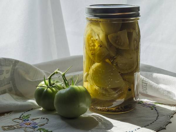 Photograph - Vintage Tomato Pickles 1 by MM Anderson